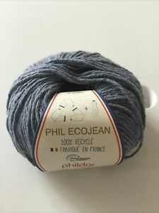 Phildar Yarn Phil Ecojean 10x50g 100% Recycle 48% Cotton, 47% Polyester, 5%Other