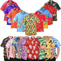 Mens Hawaiian Shirts Stag Beach Party Summer Holiday Casual Fancy Top XS-3XL