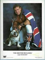 WWE THE BRITISH BULLDOG OFFICIAL LICENSED AUTHENTIC 8.5X11 ORIGINAL PROMO PHOTO