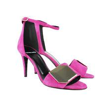 Pierre Hardy Pink Suede Gold Detail Heels Sandals IT38 UK5
