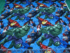 1 Yard Quilt Cotton Fabric- Springs Marvel Avengers Ironman Character Toss Logo