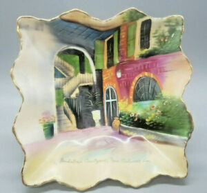 Brulatour Courtyard New Orleans French Quarter Decorative Dish - Handpainted