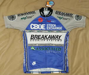 CBOE Chicago NSX National Stock Exchange cycling jersey size LARGE NEW champ sys