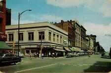 High Street View Old Cars Drug Store West Holyoke Massachusetts MA Postcard B4