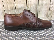 Stanley Blacker Italia Brown Woven Dress Oxfords Mens Shoes  Sz 9.5M      W14(20