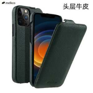 For Apple iphone 12 Mini Phone Case Lichee Pattern Genuine Leather Up and down