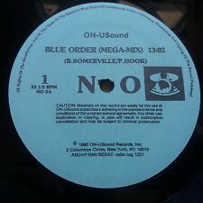 "New Order / Bronski Beat - Blue Order Mega-Mix 12"" Vinyl Single ON-U Sound Rare"