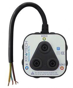 Kewtech Kewcheck R2FL Socket Testing Adaptor with Flying Lead for R1/R2 & Loop