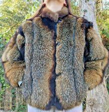 Women Real Raccoon Fur Coat Natural Short (waist long) Outerwear