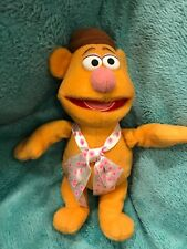 "DISNEY STORE 9"" Plush FOZZIE BEAR Brown Stuffed Animal Sesame Street Muppet"