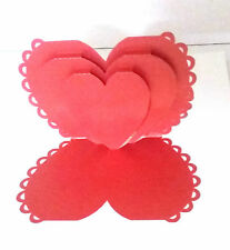 3D Pop Up Hearts Love Valentine Greeting Card Handmade Best Gift Husband Wife