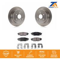 Rear Brake Disc Rotor & TEC Ceramic Pad For Subaru Forester Impreza Crosstrek XV