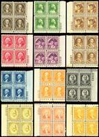 704-15, Mint VF NH Set of Plate Blocks of Four Stamps Cat $393.00 -- Stuart Katz