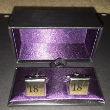 18th Birthday Cufflinks Silver Plated  Beautifully Presented In Gift Box