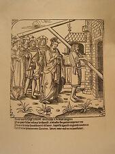 Planche gravure Religion Moyen age Découverte de la Sainte Croix n°4 suite