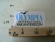 STICKER,DECAL OLYMPIA INTERNATIONAAL VAKANTIEREIZEN VLIEGEN AIR ?
