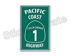 "*Aluminum* Pacific Coast Highway California 1 8"" x 12"" Funny Metal Sign NS"