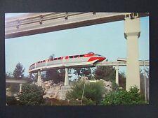 Anaheim CA Disneyland Alweg Tomorrowland Monorail Train Postcard 1950s-60s
