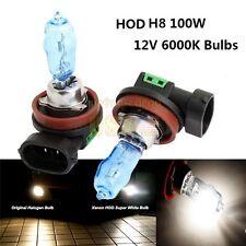 2x H8 HOD XENON Halogen Headlight Bulbs Fog Light Driving Lamp 100W 6000K WHITE