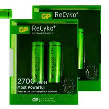 4 x GP ReCyko+ AA batteries 2700 Series rechargeable 2600mAh NiMH HR6 Pack 2