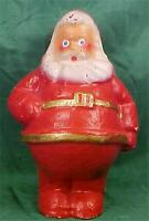 Santa Claus Pressed Cardboard Candy Container Decoration Vintage Gold Belt #2