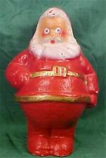 Santa Claus Pressed Cardboard Candy Container Decoration Vintage Gold Belt #2