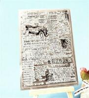 Motivstempel Alte Zeitung Weihnachten Oster Hochzeit Geburtstag Karte Album DIY