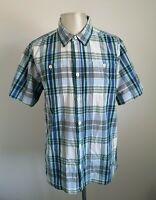 Mens Weird Fish Short Sleeved Check Shirt - Size XL