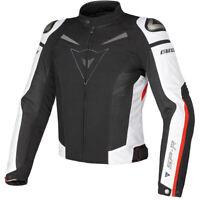 Dainese Men's Super Speed Textile Motorcycle Jacket Black/White/Red Size 50 EU