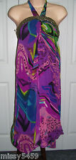 AUTHENTIC ICON AMERICAN IDOL Tommy Hilfiger Embellish Sequin Halter Dress S $110