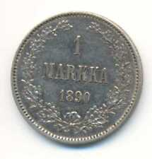 Finland under Russia Silver 1 Markka 1890 XF