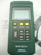 MASTECH MS6514 Dual channel Digital Thermometer -200°C to +1372°C USB interface