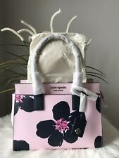 New Kate Spade Cameron Grand Flora Medium satchel Serendipity Pink Great Gift