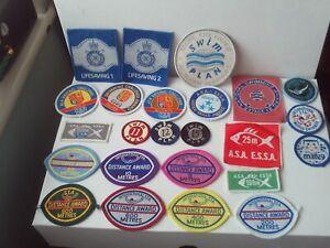 Swimming Badges/Patches Sew-on (Unused) x 24 inc. ASA/STA/International Job Lot
