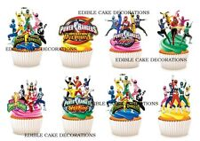 24 Power Rangers STAND UP Cupcake Fairy Cake Toppers Edible Decorations Birthday