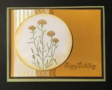 Handmade Goldenrod Wildflower Birthday Card