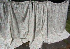 """Big Laura Ashley Pair of Wide Vintage Floral Curtains 71"""" Long x 125"""" Wide Each"""