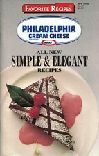 Philadelphia CREAM CHEESE Kraft All New SIMPLE & ELEGANT Recipes Cookbook #17
