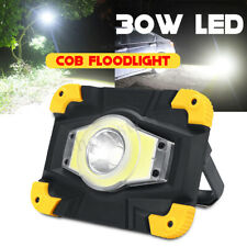 30W COB LED Work Light Rechargeable Portable Camping Security Lamp Floodlight