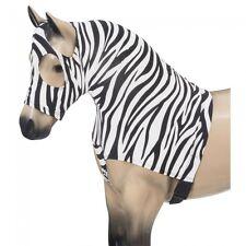 Tough-1  Mane Stay Miniature Nylon/Spandex Hood - Zebra print - SMALL - NWT -
