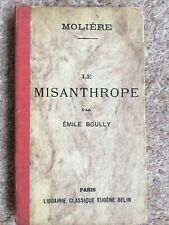MOLIERE LE MISANTHROPE COMEDIE PAR EMILE BOULLY PARIS LIBRAIRIE CLASSIQUE FRENCH