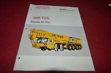 Demag AC 535 Mobile Crane Dealer's Brochure DCPA6