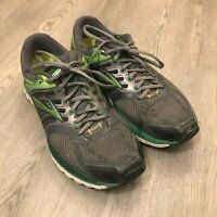 Brooks Glycerin 11 Mens Running Shoes Sneakers Gray Green Size 10.5 US