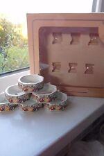 Fresh Fruit Napkin Rings Johnson Brothers x 6 Full Set Boxed
