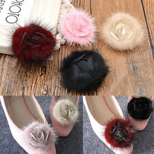 1 Pc Flower Fluffy Shoe Buckle Shoe Clips Accessories Wedding Bridal Decor Gifts