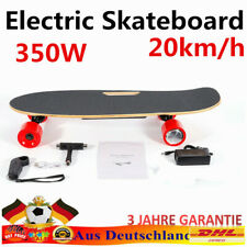 350W elektrisch Elektro E-Skateboard Longboard w/ Remote Control 20km/h ROT DHL