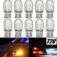 10x T20 7443 R580 W21/5W Clear Glass DRL Turn Signal Stop Brake Light Tail Bulbs