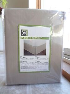 """Living Quarters Tailored Bedskirt 15"""" Drop (New) Free Shipping"""