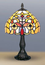 STYLE TIFFANY UNIQUES Verre Teinté LAMPE BUREAU TABLE -8.26'' large