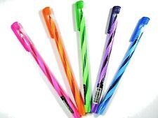 5 x QuanTum Skate 114 Candle Ballpoint Pen All Blue Ink 0.5mm spiral line Set